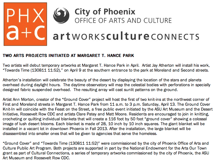 Press release city of phoenix